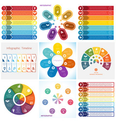 collections infographics elements template 7 vector image vector image