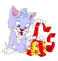 cute happy cartoon cat vector image vector image