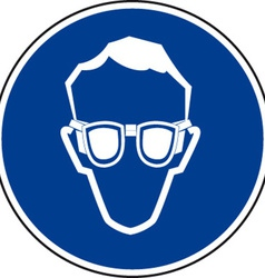 Eye Protection Must Be Worn Sign vector image