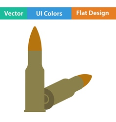 Flat design icon of rifle ammo vector image vector image