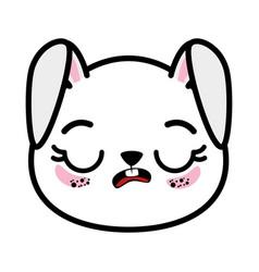 Isolated cute rabbit face vector