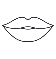 Lips and mouth cartoon design vector image vector image