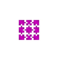 Puzzle Icon Modern design flat style vector image