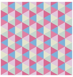 Retro colored modern hexagon pattern vector image