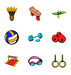 sport activity icons set cartoon style vector image vector image