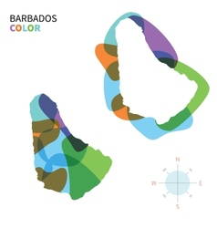 Abstract color map of Barbados vector image