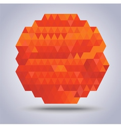 Abstract geometric orange with triangles pattern vector image