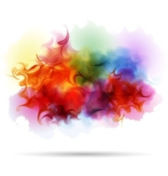 Abstract splash colorful smoke background vector
