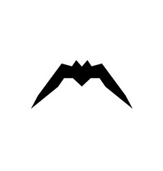 bat icon silhouette isolated on white vector image