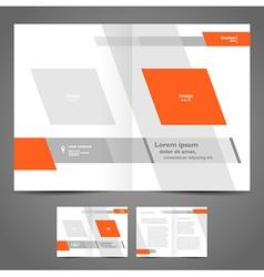 Brochure design booklet template geometric vector