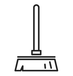 broom isolated icon simple outlined symbol vector image