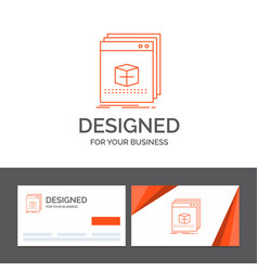 business logo template for software app vector image