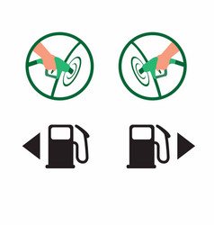 car gas cap side petrol cap hole instrument icon vector image