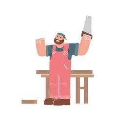 Cartoon carpenter vector