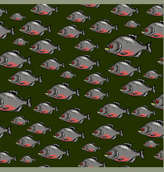 Cartoon fish swimming seamless pattern vector
