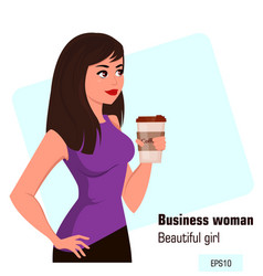 Character beautiful business woman 16 vector
