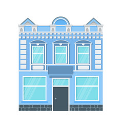 city house icon vector image