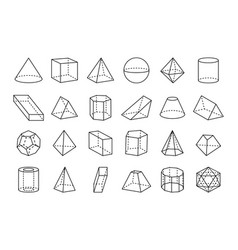 Collection of geometric shapes vector
