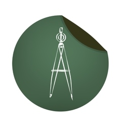 Compass school supply icon vector