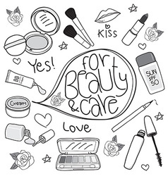 cosmetics cute vector image