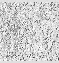 crumpled silver foil seamless texture vector image