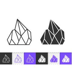 Crystal simple black line icon vector