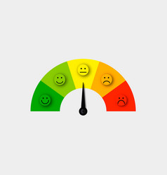 customer satisfaction meter vector image