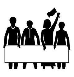 Demonstration crowd icon simple style vector