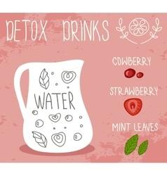 Detox drink vector image