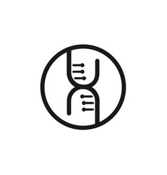 dna code logo gene logotype monochrome vector image