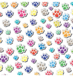 dogs foot prints vector image vector image