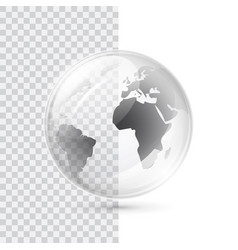 earth transparent globe vector image