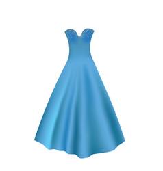 elegant blue ball dress vector image