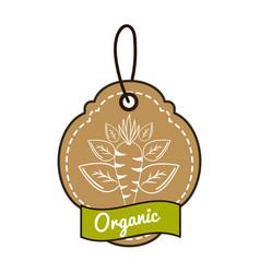 emblem vegetarian food icon stock vector image