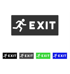Emergency exit flat icon vector