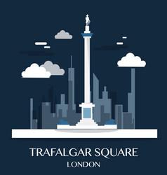 Famous london landmark trafalgar square vector