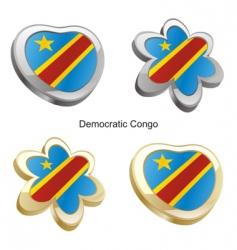 flag of Democratic Congo vector image