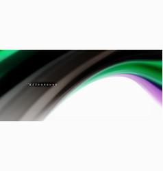 fluid liquid mixing colors concept on light grey vector image