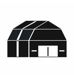 Garage storage icon simple style vector
