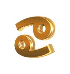 Golden zodiac sign Cancer vector