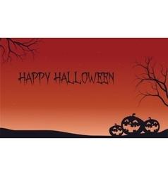 Halloween backgrouds pumpkins in fields vector