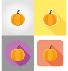 halloween flat icons 02 vector image