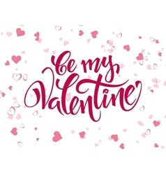 Hand lettering valentines day greetings vector