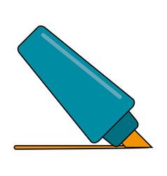 highligther marker utensil vector image