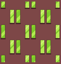 house windows elements flat style glass frames vector image