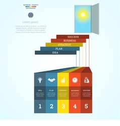 Infographic template steps 5 vector