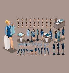 isometry is a vintage tailor a set of gestures of vector image