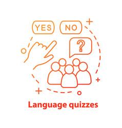 Language quizzes games concept icon vector