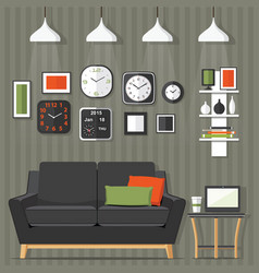 Living room modern vector