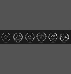 luxury and vip labels vector image